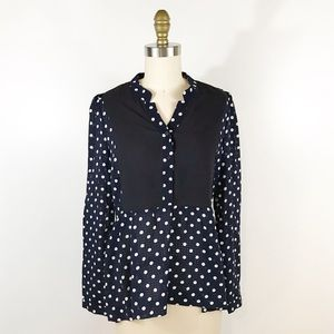 ⭐️ NEW ARRIVAL Modcloth Navy PolkaDot Tunic Blouse